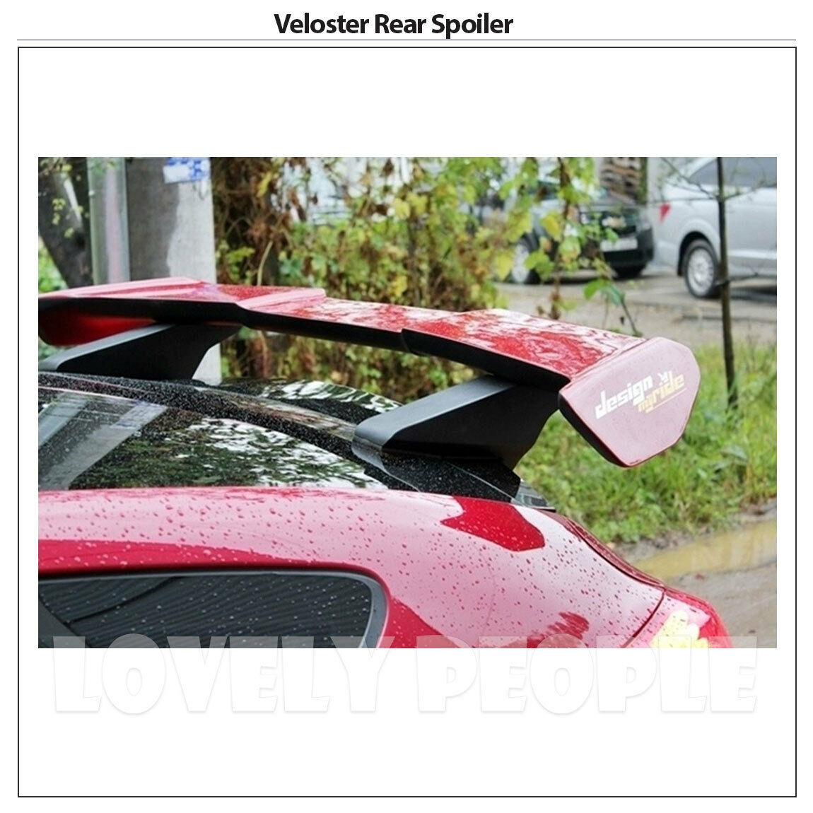 Rear Wing Roof Spoiler Frp Gt Wing Type For Hyundai