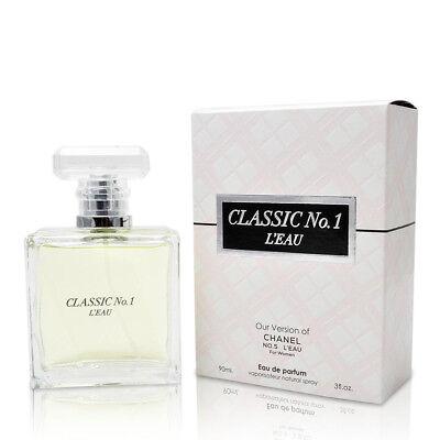 CLASSIC NO 1 L'EAU Perfume for Women, 3 oz, Designer Impression by Mirage (Designer For Chanel)