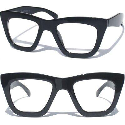 Cat Eye Bat Mask Style Clear Lens Glasses Men's Women's Super Hero (Super Cat Eye Glasses)