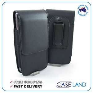 BLACK-LEATHER-BELT-CLIP-CASE-COVER-SAMSUNG-APPLE-SONY-HTC-LG-NOKIA-MOTOROLA-ALDI