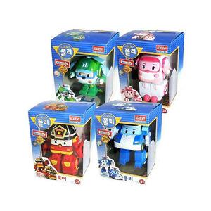[Ship from USA] ROBOCAR POLI Poli + Helly + Amber + Roy Transforming Robot Toy