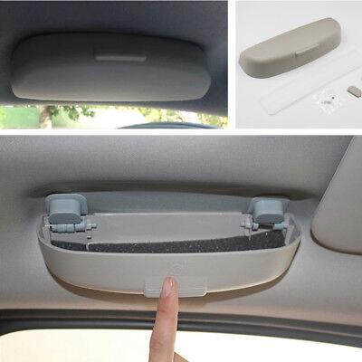 Portable grau ABS Auto Innen Sonnenbrillen Aufbewahrungskoffer Brillenhalter DE