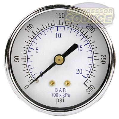 14 Air Compressor Hydraulic Pressure Gauge 0-300 Psi 2.5 Face Back Mount