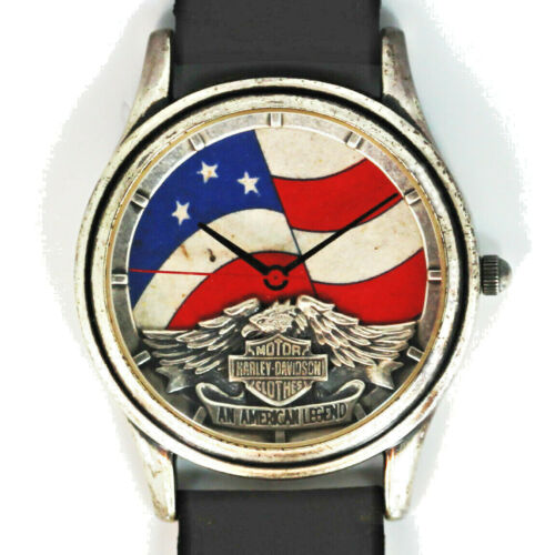 Harley Davidson Vintage Unworn Stars And Stripes Dial, Extremely Rare Watch $129