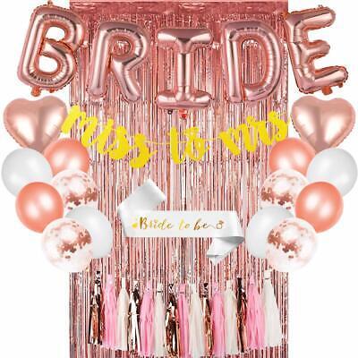 Bachelorette Party Decorations Kit Bridal Shower Supplies Heart Foil Balloons Decorating Bridal Shower
