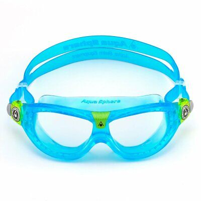 Learn to Swim Goggles BLUE Aqua Sphere SEAL KID Clear Lens