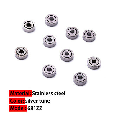 10x Mini Miniature Stainless Steel Ball Bearings Deep Groove Bearing 1x3x1mm