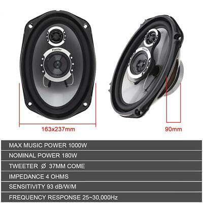 1000W 4CH Amp Kit 4 Pioneer TS-A6996S 6x9� 650W 5-Way Coaxial Speakers