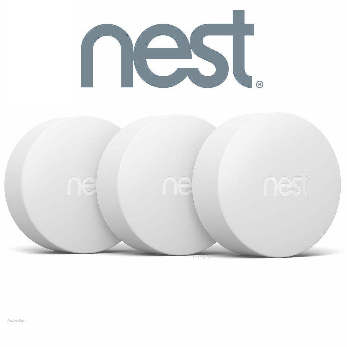 Nest Temperature Sensor 3 Pack Bundle Set for Themostat Whit