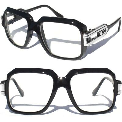 Clear lens Glasses Retro 80s Rap Star MC DJ Nerd Hipster Eye Wear Square (Wearing Aviators)