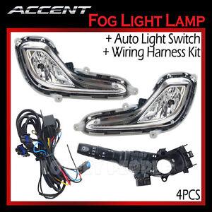 new-fog-light-lamp-complete-kit-wiring-harness-oem-for ... hyundai accent fog light wiring diagram