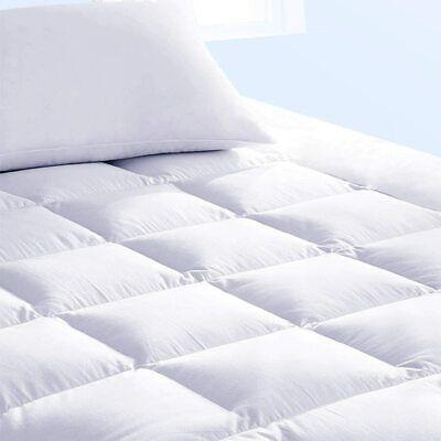 Pillow Top Mattress Topper Queen Size Bed Pad Cover for Memory Foam Mattress