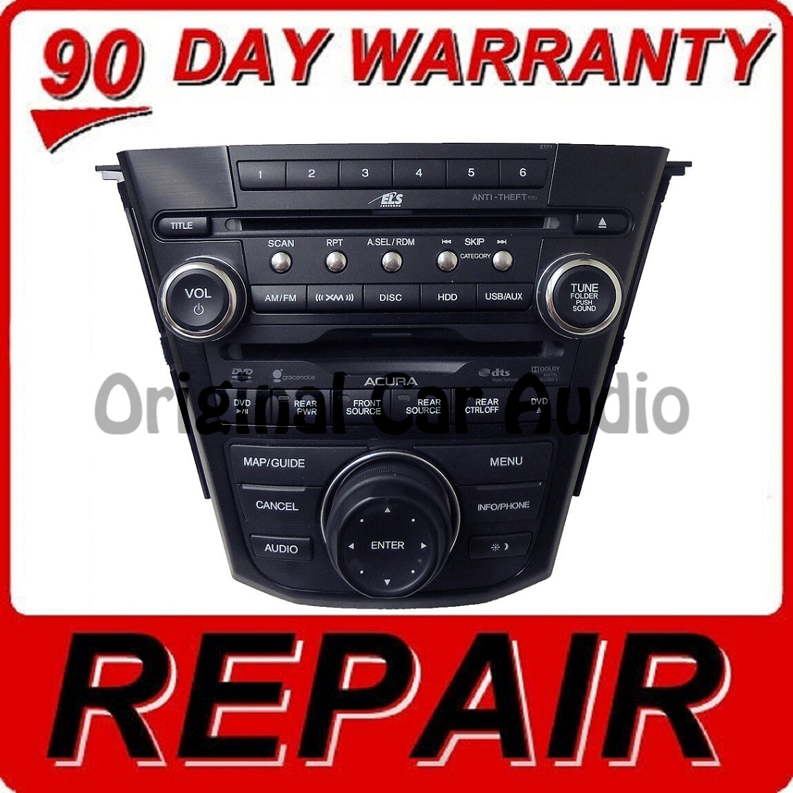 Repair Fix Your Acura Mdx Navigation Radio Stereo Receiver Hard Drive Cd Player Ebay