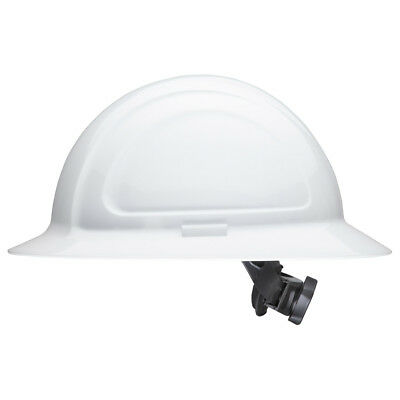 North Zone Full Brim Hard Hat With 4 Point Ratchet Suspension White