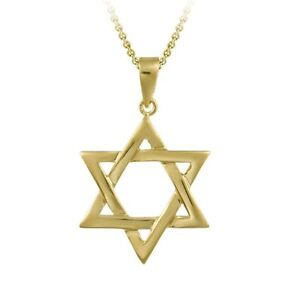 18k Gold Plated Star of David Pendant Necklace - 17