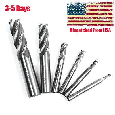 6pcs Straight Shank 4 Flute End Mill Cutter Cnc Drill Bit Set 18 -58