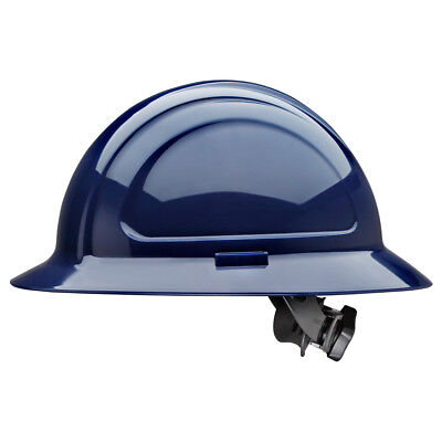 North Zone Full Brim Hard Hat With 4 Point Ratchet Suspension Navy Blue