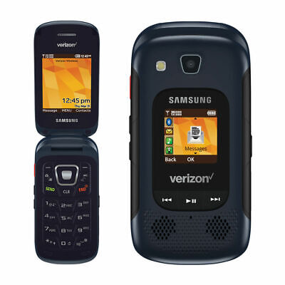 EXCELLENT 3G Samsung Convoy 4 SM-B690 Verizon Basic Flip Cell Phone GSM Capable