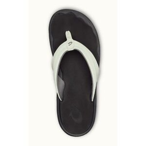 56a9e8c977b OluKai Womens Sandals Ohana White Black Size 10