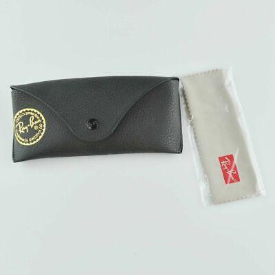 Original Ray Ban Sun Glass Case - Black Textured - Snap Close Soft Glasses (Sun Glass Case)