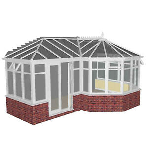4.0m x 5.0m DIY P-SHAPE EUROCELL CONSERVATORY--***ALL SIZES AVAILABLE***