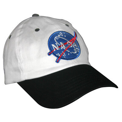 Weiß und Schwarz Nasa Kinder Hut Astronaut Piloten Baseball Kappe Flug Kostüm ()