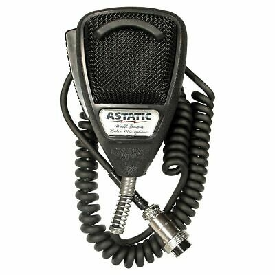 Astatic 302-636LB1 636L CB/Ham Radio 4-Pin Microphone Noise Canceling Black Mic