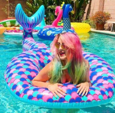 Mermaid Pool Float (BigMouth Giant Mermaid Tail Pool Float Huge And Best Seller Over 5 Ft)