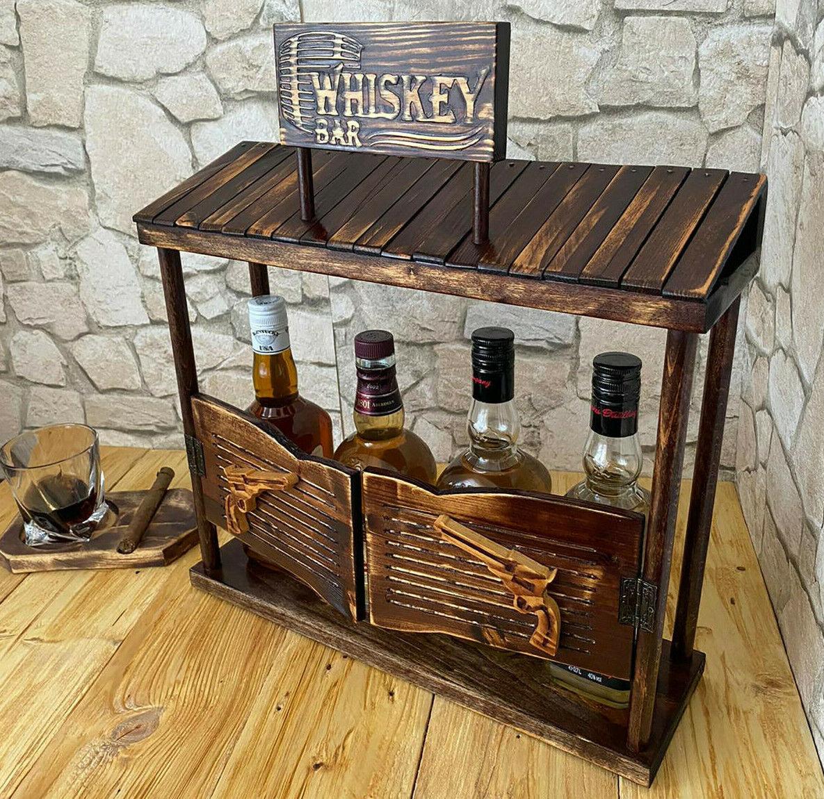 Whisky Hausbar Minibar Flaschenregal Bar Deko Whisky Regal Kellerbar Partybar