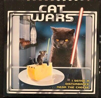 "Cat Wars : ""I Sense a Disturbance ... near the Cheese"" Star Wars Book Gift"