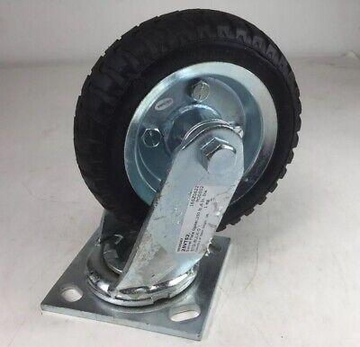Ironton 6in. Swivel Pneumatic Caster - 250-lb. Capacity Lugged Tread