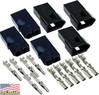 Molex (2-Pin) BLACK Male/Female Connector w/14,16,18,20,22 Glow Wire Capable 16 Pin Molex Connector