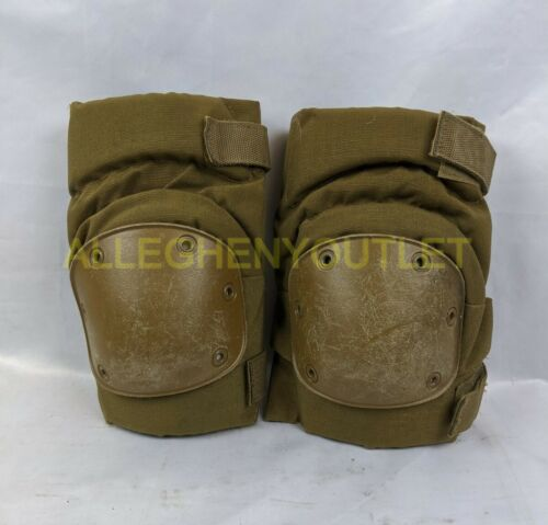 US Military USMC Tactical Protective KNEE PADS Coyote Brown Paintball S-M-L VGC