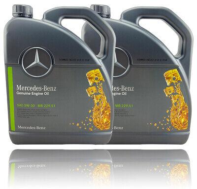 10 Liter Motoröl 5W30 MB 229.51 Mercedes Benz Original MB229.51 5W-30 Motorenöl