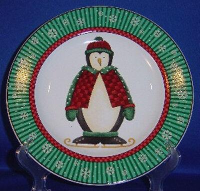 Sakura Penguins Salad Plate ~Ice Skating~ Debbie Mumm