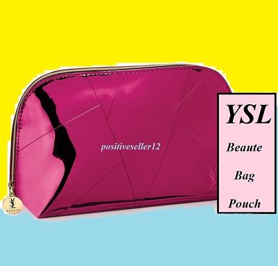 Yves Saint Laurent Fragrance Hand Bag Cosmetic Pouch bright pink Valentine's Day