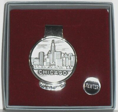Chicago Money Clip (Pewter)