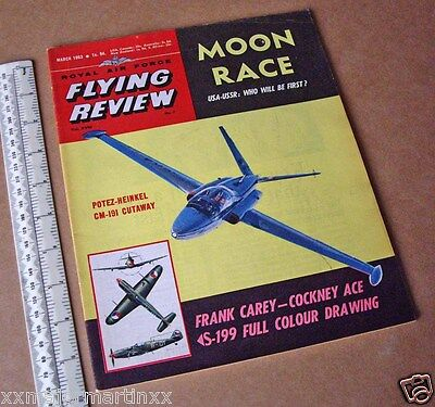 1963 RAF Flying Review Moon Race Article + Czech Avia S-199 Colour 3-View Bf109