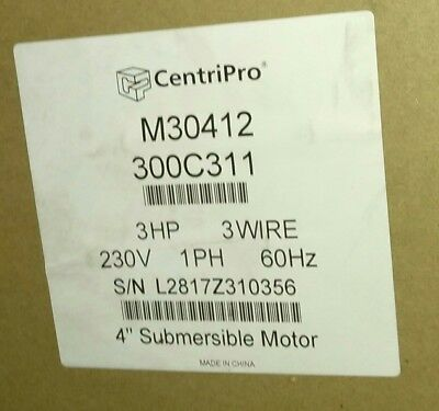 Goulds M30412 3 Hp 3 Wire 4 Centripro Submersible Pump Motor 230v 1 Phase