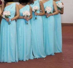 DAVIDS BRIDAL DRESS - Teal Colour