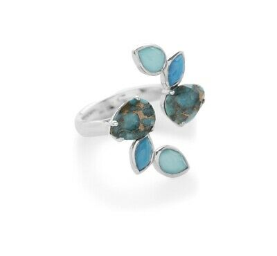 Ippolita Rock Candy 6-Stone Silver Open Ring  size 7 $795