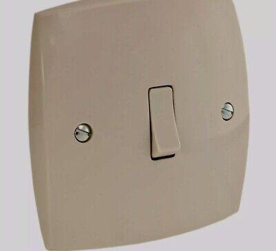 Vintage Flush Fitting Ivory Bakelite Switch