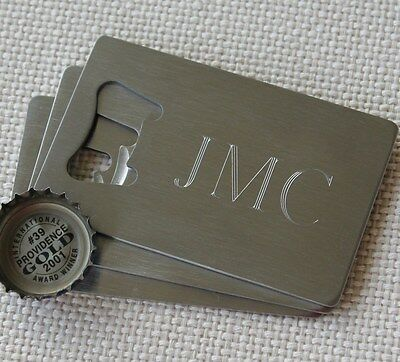 Personalized Credit Card Bottle Opener - Groomsmen Gifts - Wedding Party Gifts](Personalized Credit Card Bottle Opener)