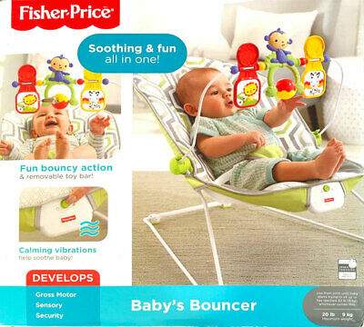 Fisher-Price Bouncer - Geometric (Geo) Meadow CMR17 - NEW Open Box