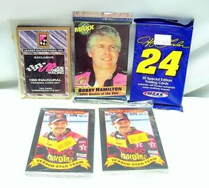 Lot of 7 PACKS of NASCAR RACING CARDS 1991, 1992, 1993 MAXX Maxwell House NOS