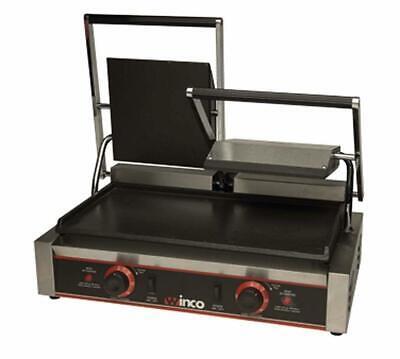 23 Double Electric Flat Top Sandwich Press Grill Winco Esg-2 New 9975 Etl