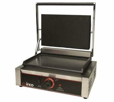17 Electric Countertop Flat Top Sandwich Press Grill Winco Esg-1 New 9974 Etl