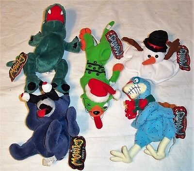 SET OF FIVE MEANIES SHOCKING STUFFS RETIRED - IDEA FACTORY - 1998 - NEW COND