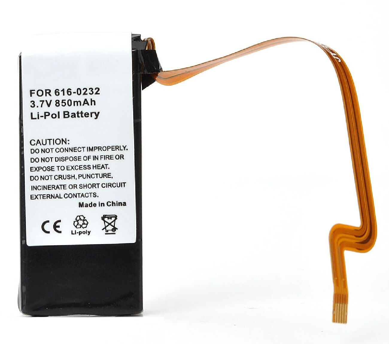 850 mAh Replacement battery for ipod classic 6g 6th gen generation 30GB A1238