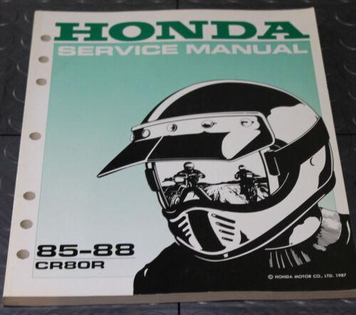 NOS OEM Honda Service Shop Manual NEW 85-88 CR80R CR 80 R